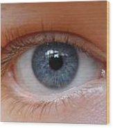 Eye Phone Case Wood Print