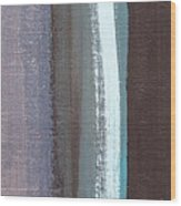 Blue Jay Feather Wood Print
