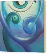 Eye Triple Koru Wood Print