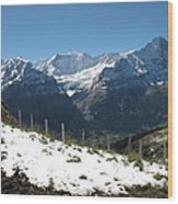 Eyeful Of The Eiger Wood Print