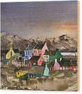 Eyeries Village Beara West Cork Wood Print
