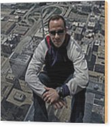 Eyes Down From The 103rd Floor Just Sitting Around Wood Print