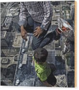 Eyes Down From The 103rd Floor Little Dude With No Fear Wood Print