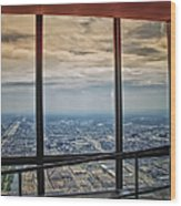 Eyes Down From The 103rd Floor Looking South Wood Print