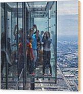 Eyes Down From The 103rd Floor Neighbors Wood Print
