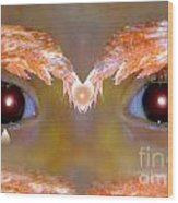 Eyes Of A Child Feathered Wood Print
