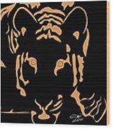 Eyes Of A Tiger 3 Wood Print