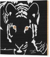 Eyes Of A Tiger 4 Wood Print