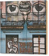 Eyes Of Barcelona Wood Print