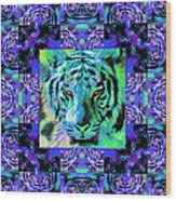 Eyes Of The Bengal Tiger Abstract Window 20130205m80 Wood Print