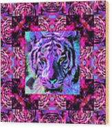 Eyes Of The Bengal Tiger Abstract Window 20130205p0 Wood Print by Wingsdomain Art and Photography