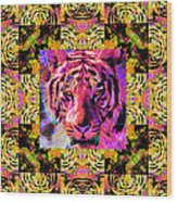 Eyes Of The Bengal Tiger Abstract Window 20130205p80 Wood Print