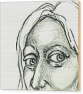 Eyes - The Sketchbook Series Wood Print by Michelle Calkins