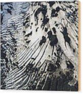 Eyjafjallajokull Glacier And Ashes Wood Print