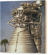 F-1 Rocket Engine Wood Print