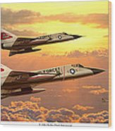 F-106 Delta Dart Intercept Wood Print
