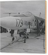 F-111 On Display At Le Bourget Wood Print