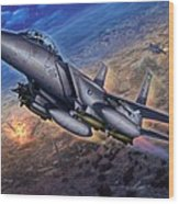 F-15e Strike Eagle Scud Busting Wood Print