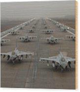 F-16 Fighting Falcons, Kunsan Air Base Wood Print
