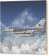 F-16c Falcon Wood Print
