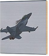 F-18 Super Hornet Vortices  Wood Print