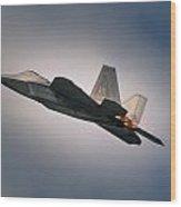 F-22 Wood Print