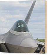 F-22 Raptor Lockheed Martin Air Force Wood Print