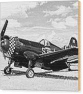 F-4u Fighter Plane Wood Print