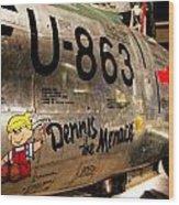 F-86d Sabre Dennis The Menace Wood Print