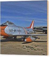 F-86h Sabre Wood Print