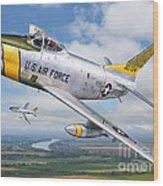 F-86l Of The 82nd Fis Wood Print by Stu Shepherd