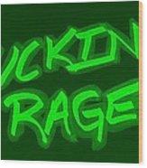 F R Green Wood Print