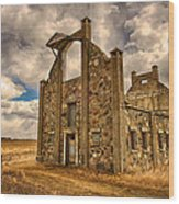 F. Schott Stone Barn  Wood Print