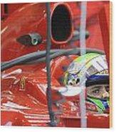 F1 Driver Felipe Massa Wood Print