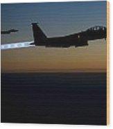 F15e Strike Eagle  Wood Print