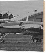 F18 Super Hornet Wood Print