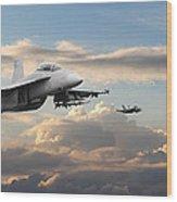 F18 - Super Hornet Wood Print