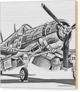F4u Corsair Wood Print