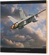 Fa-18d Hornet Wood Print