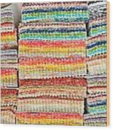 Fabric Colours Wood Print by Tom Gowanlock