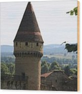 Fabry Tower - Cluny - Burgundy Wood Print