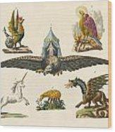 Fabulous Animals Wood Print