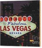 Fabulous Las Vegas Wood Print