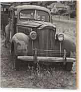 Fabulous Vintage Car Black And White Wood Print