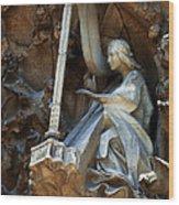 Facade Of Sagrada Familia Wood Print