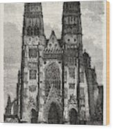 Facade Of The Metropolitan Church Of Tours Wood Print