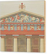 Facade Of The Temple Of Jupiter Wood Print