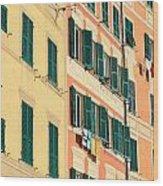 facades in Camogli Wood Print