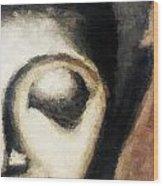 Face Embossed Wood Print