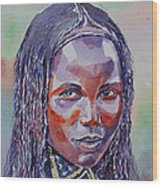 Face From Sudan  1 Wood Print